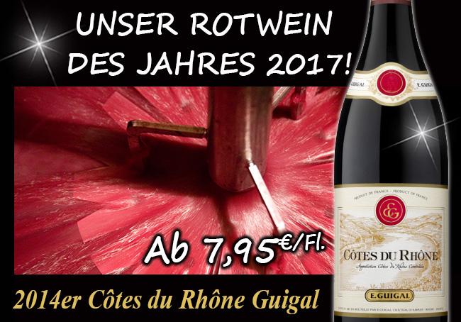 Unser Rotwein des Jahres 2017