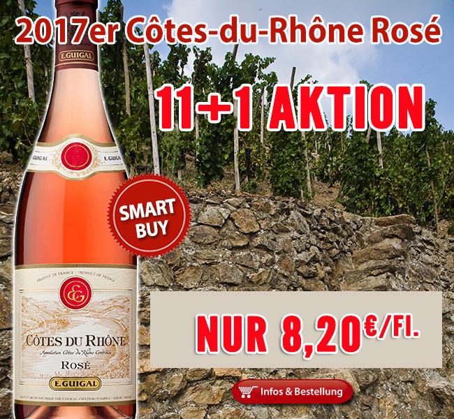 11+1 Aktion Côtes du Rhône Rose Guigal