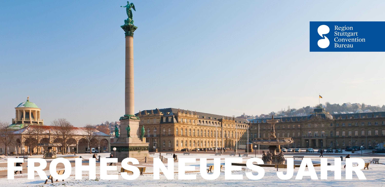 Frohes Neues Jahr vom Stuttgarter Schlossplatz