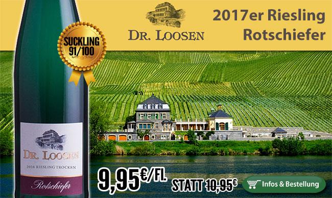 Beeindruckende Tiefe: 2017er Riesling Rotschiefer – Dr. Loosen