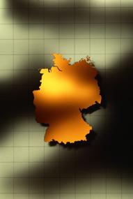 Deutschlandkarte, abstrakte Grafik