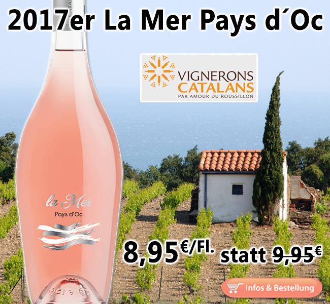 Sommer, Sonne, Strand & Meer: 2017er La Mer Rosé