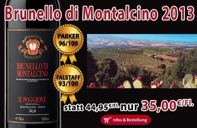 Brunello 2013 – Il Poggione zählt wieder zu den Besten des Jahrgangs!