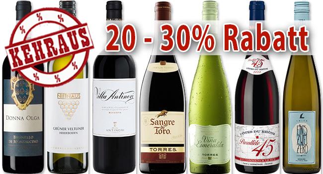 8 Kehrausweine mit 20% bis 30% Rabatt!