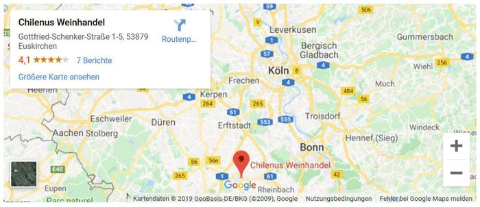 CHILENUS Weinhandel in Euskirchen bei Google Maps