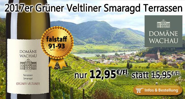 2017er Grüner Veltliner Smaragd Terrassen Wachau nur 12,95€ statt 15,95€
