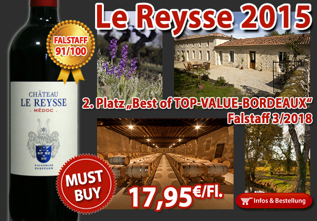 "2. Platz ""Best of TOP-VALUE-BORDEAUX"" Falstaff 3/2018"