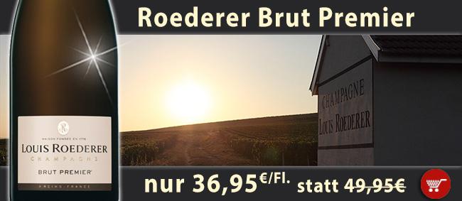 Manchmal muss es einfach Champagner sein: Roederer Brut Premier BEST-PRICE!