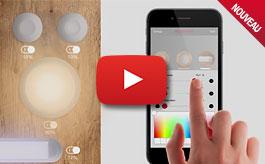Appli Connect pour LEDs, audio, coulissants, tiroirs, vidéo