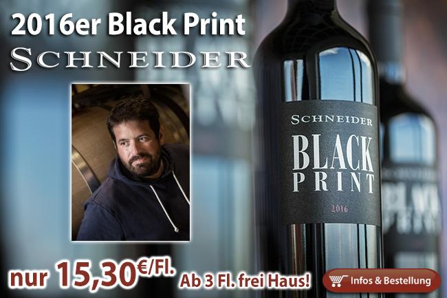 NEU: 2016er Black Print der Überflieger! Schon ab 3 Flaschen frei Haus!