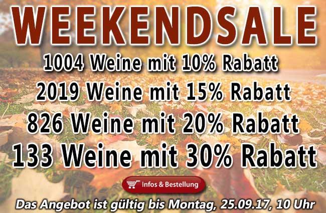 XXXL WEEKENDSALE: knapp 4000 Weine reduziert!
