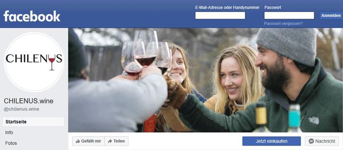 CHILENUS.wine auf Facebook