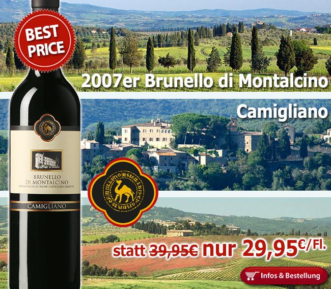 BEST-PRICE: 2007er Brunello di Montalcino – Camigliano nur 29,95€/Fl. statt 39,95€