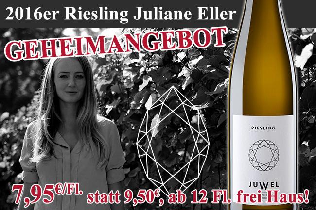 Geheimangebot: 2016er Riesling Juliane Eller Rheinhessen