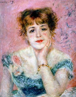 'Portrait of the Actress Jeanne Samary' by Auguste Renoir