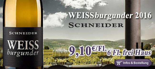 2016er Weissburgunder Markus Schneider