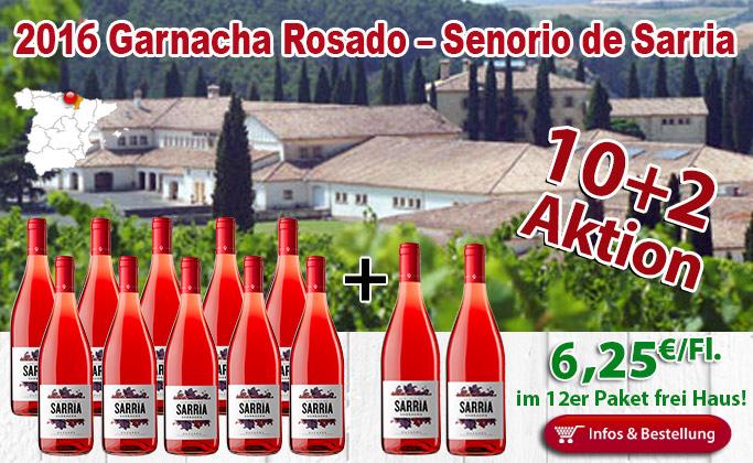10+2 AKTION: 2016er Garnacha Rosado Sarria