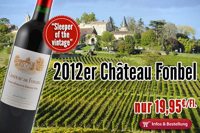 Bezahlbarer Geheimtipp aus dem Saint Emilion: Château Fonbel Familie Vauthier (Ausone)