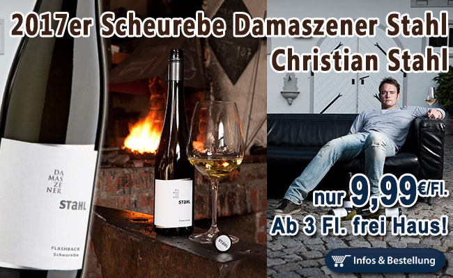 Scheurebe meets Christian Stahl…frisch aus dem Keller der 2017er Jahrgang