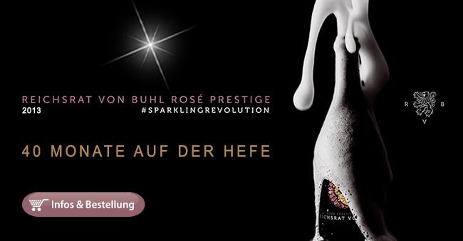 Limitierte Neuerscheinung: 2013 Rosé Prestige Brut -Reichsrat von Buhl