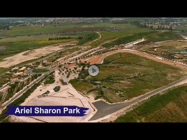 Bird's Eye View of KKL-JNF Sites around Israel