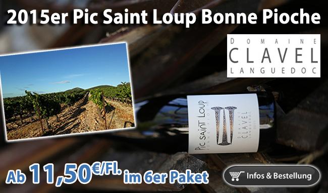 Mehr Wein geht nicht für 11,50€/Fl. - 2015er Bonne Pioche Pierre Clavel Pic Saint Loup
