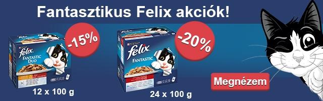 Eledel akció - Felix tápok szuper áron!