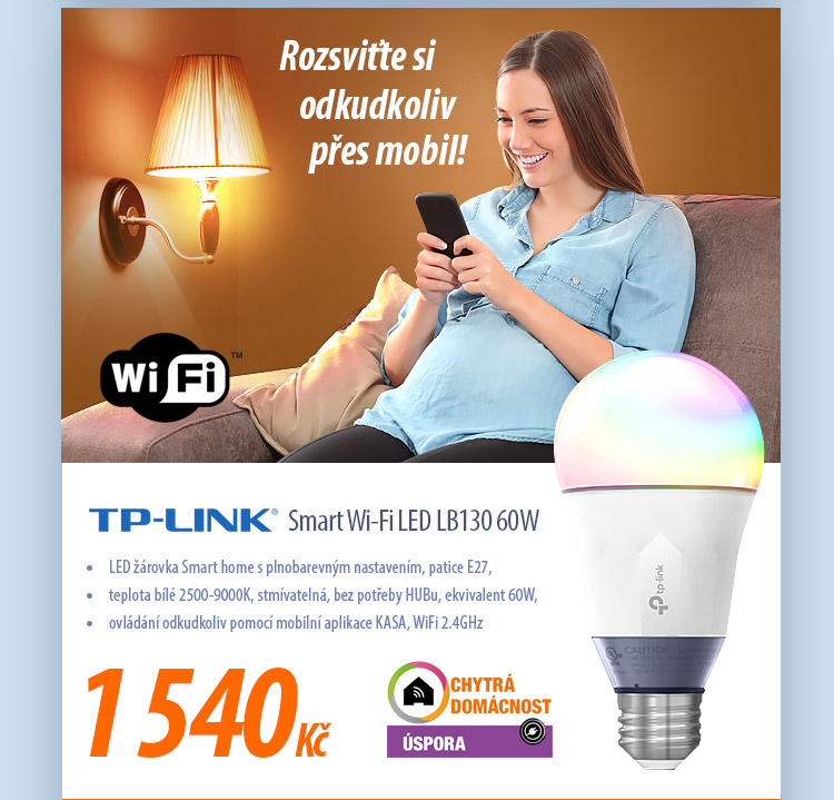 LED žárovka TP-Link Smart Wi-Fi LED LB130 60W
