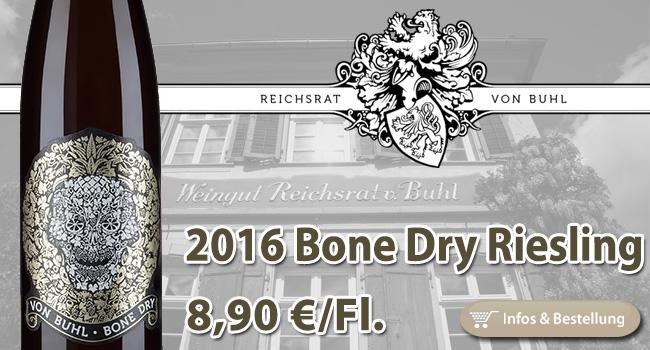 <br /> Knochentrocken: Bone Dry Riesling – Reichsrat von Buhl Pfalz
