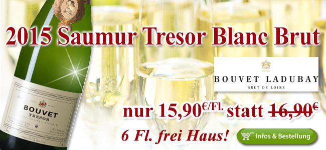 Best-Ever: 2015er Bouvet Ladubay Tresor Blanc nur 15,90€/Fl. statt 16,90€!