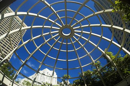 Low angle view of an Atrium, Boston, Massachusetts, USA