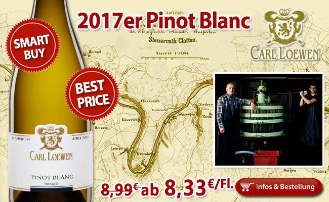 Subtil elegant zum verboten guten Preis: 2017er Pinot Blanc - Loewen