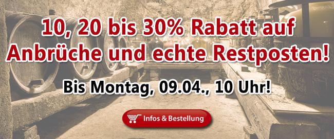 Zwölf oder weniger: 10, 20 bis 30% Rabatt auf echte Restposten!