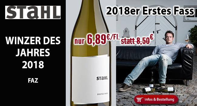 Der erste 2018er vom FAZ Winzer des Jahres 2018 - Christian Stahl!
