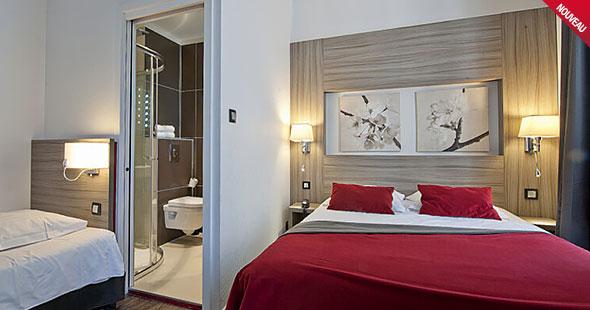 Contrôle d'accès électronique Dialock dans l'hôtel«Le Grillon»