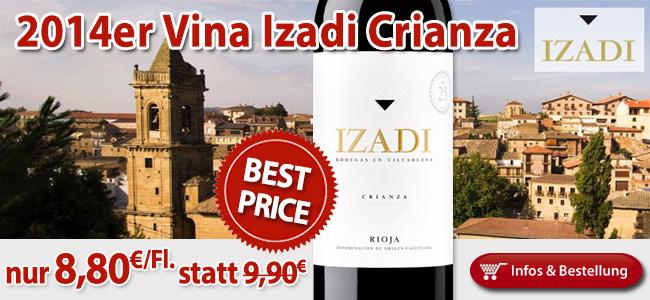 BEST-PRICE: Izadi Crianza Rioja 2014 nur 8,80€/Fl.!