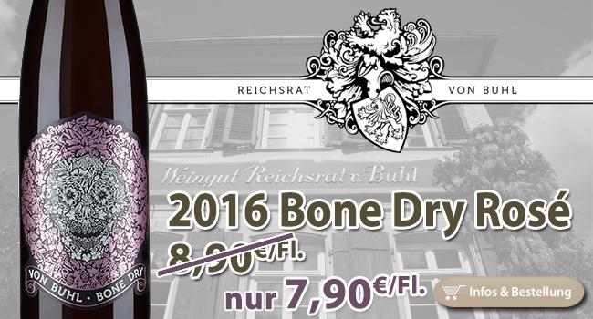 Knochentrocken: Bone Dry Spätburgunder Rosé - Reichsrat von Buhl Pfalz