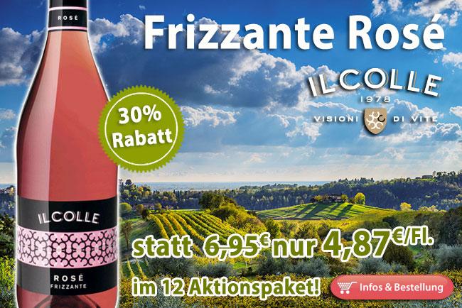 30% Rabatt auf Frizzante Rosé Il Colle