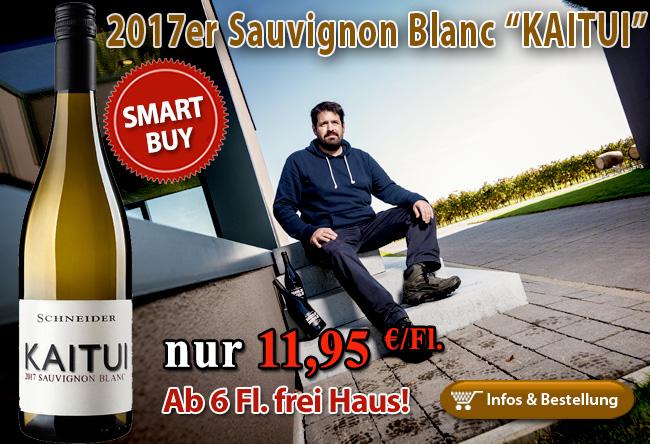 """Ernst und rassig: 2017er Sauvignon Blanc """"KAITUI"""" - Markus Schneider"""