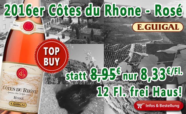 Mit dem 2016er Côtes du Rhône ROSE von Guigal in den Sommer…