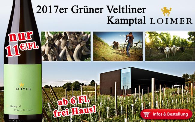 Genial: 2017er Grüner Veltliner Kamptal - Fred Loimer