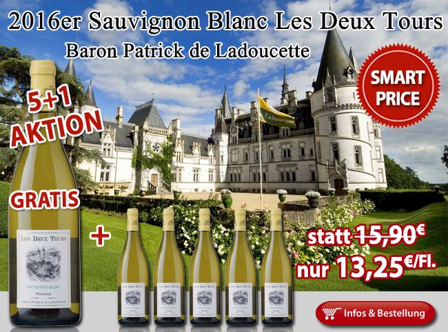 5+1 Aktion Sauvignon Blanc Les Deux Tours Baron de Ladoucette