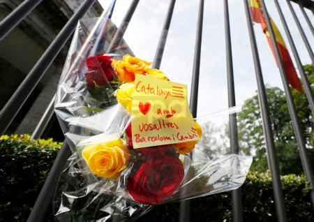 Spanish Embassy in Berlin holds a minute of silence