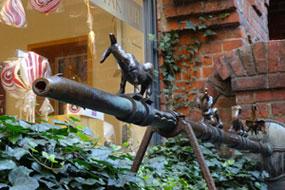 Brunnen mit Stadtmusikanten © Ingrid Krause
