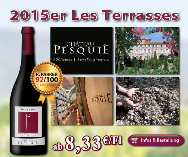 <br /> 92/100 Punkte für den 2015er Les Terrasses – Château Pesquie ab 8,33€