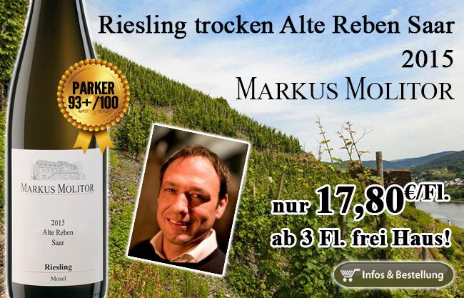 Spitze: Alte Reben von der Saar – Molitor 93+/100 Punkte