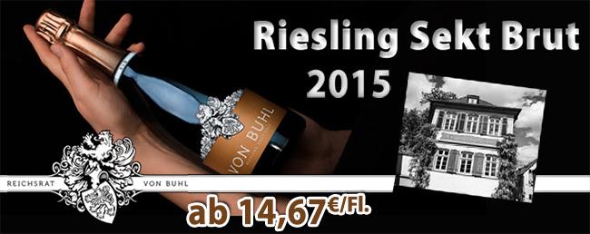 Ganz großes, deutsches Sektkino: 2015er Riesling Brut – Reichsrat von Buhl