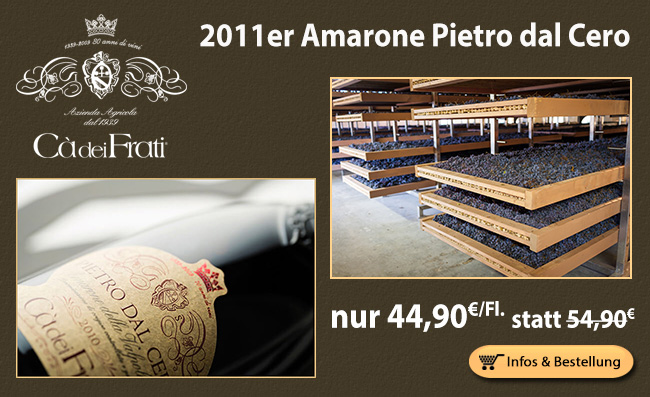 2011er Amarone Pietro dal Cero nur 44,90 statt 54,90€