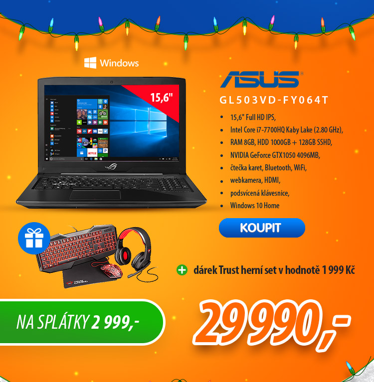 Notebook Asus GL503VD-FY064T