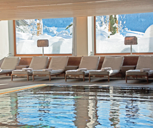 Pool im Winter